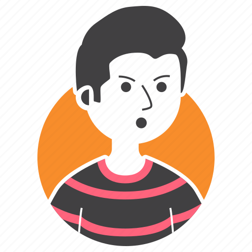 Avatar, bad boy, boy, expression, hairstyle, people, millenial icon - Download on Iconfinder