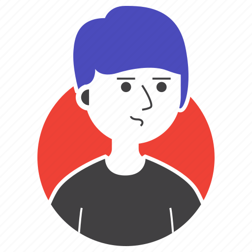 avatar, boy, expression, man, people, suspicious, worry icon