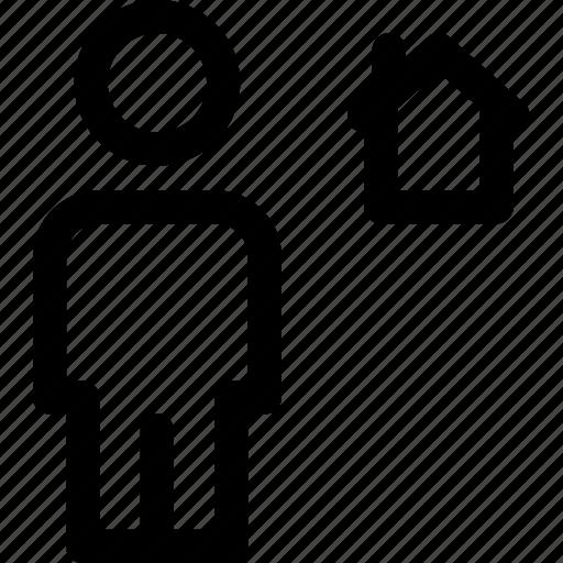 avatar, body, home, house, human icon