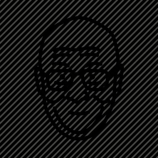 dalai lama, face, head, old man, person, persona icon