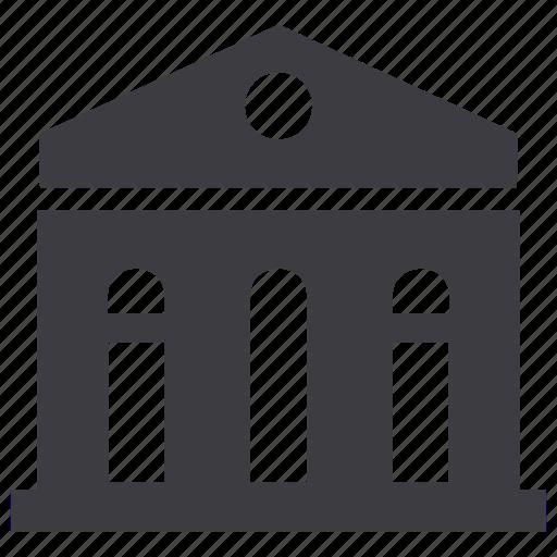 bank, finance, university icon