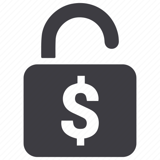 dollar, lock, locked, money, security icon