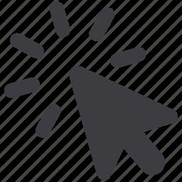 arrow, click, cursor, web icon