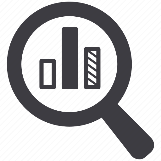 analytics, analyze, bar, charts, find, search, statistics icon