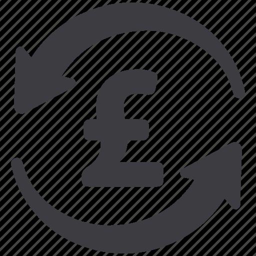 arrows, conversion, exchange rate, pound icon