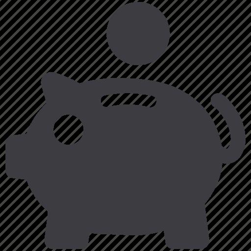 coin, finance, money, piggy bank, savings icon