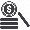 cash, coin, currency, finance, income, money, profit icon