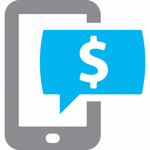 Bank account, mobile banking, online banking, sms banking icon