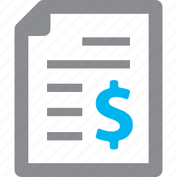 bill, financial report, invoice, receipt icon