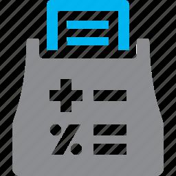 personal finance, tax calculator, tax machine icon