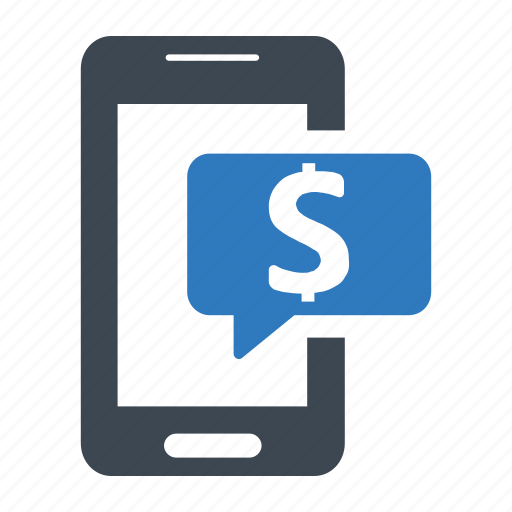 banking, mobile, sms icon