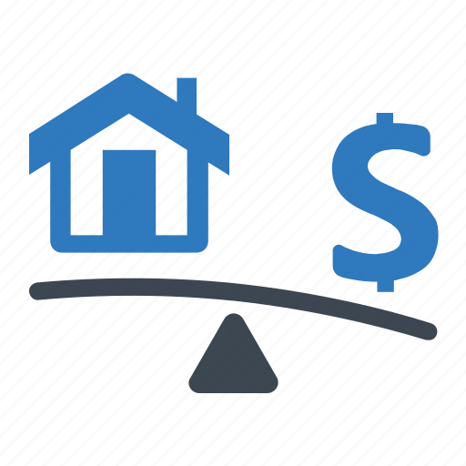debt, home, loan icon