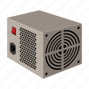 component, computer, equipment, hardware, personal, power supply, power unit icon