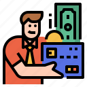 credit, loan, borrow, card, money icon
