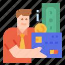 loan, money, borrow, card, credit icon