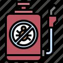 bottle, pesticide, spray icon