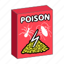box, fight, insect, packaging, pest, poison, toxin icon