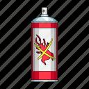 container, metallic, poison, spray, toxin icon