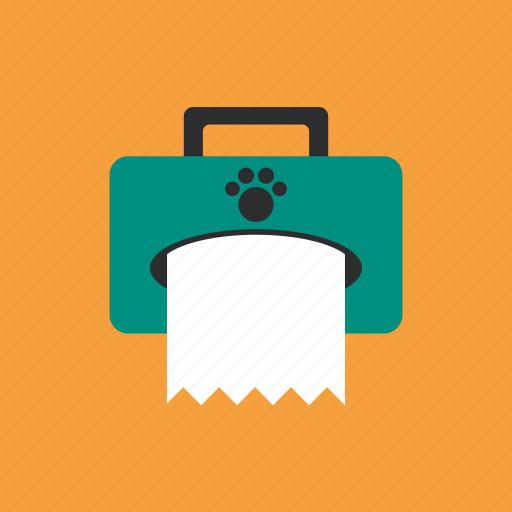 animal, footprints, pet, suitcase icon