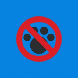 animal, block, footprints, pet icon