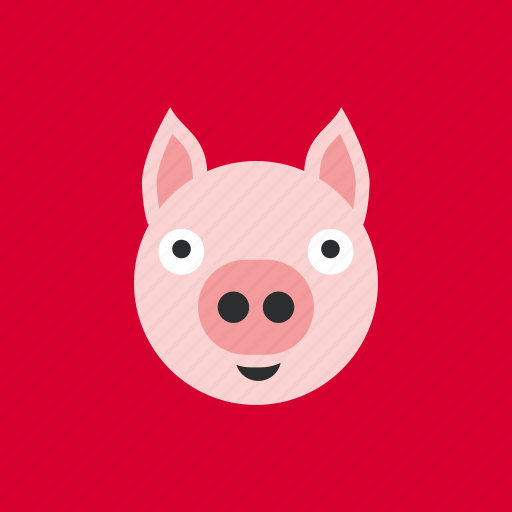 animal, head, pet, pig icon