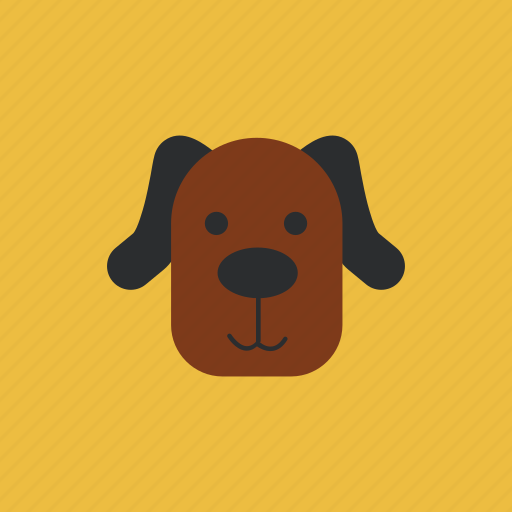 animal, dog, head, pet icon