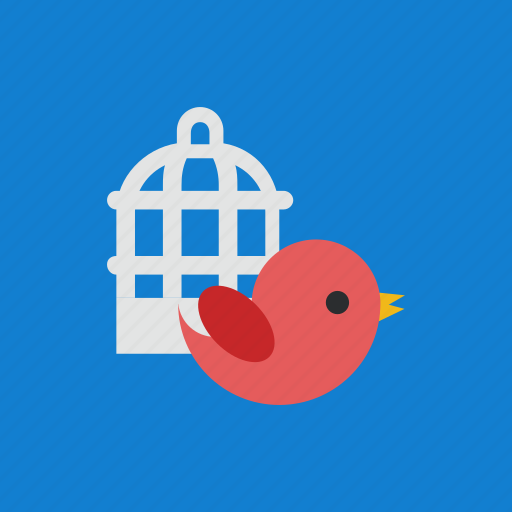 animal, bird, cage, pet icon