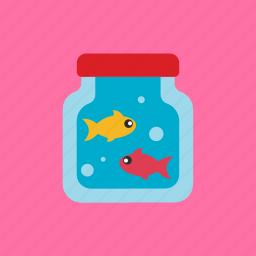 animal, bottle, fish, pet icon
