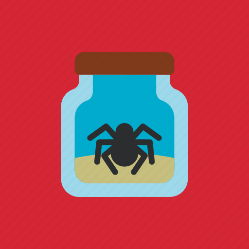 animal, bottle, pet, spider icon