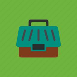animal box, cage, pet, suitcase icon