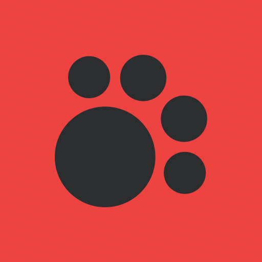 animal, dog, footprints, pet icon