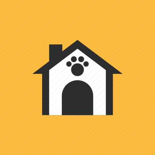animal, cage, footprints, pet icon