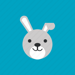 animal, head, pet, rabbit icon