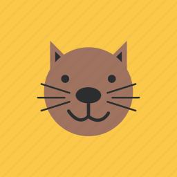 animal, cat, head, pet icon