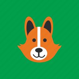 animal, fox, head, pet icon