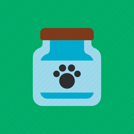 animal, bottle, footprints, pet icon