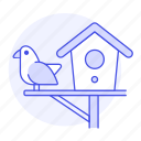 animal, bird, birdhouse, birds, dovecote, house, little, pet icon