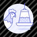 animal, birds, chicken, eating, feeder, food, hen, pet