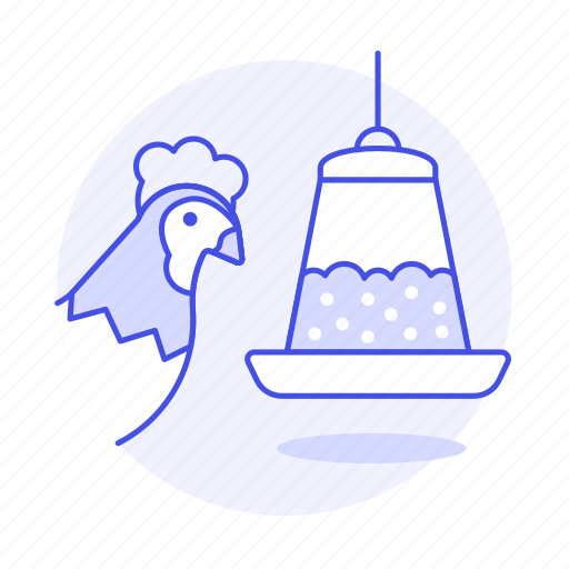 animal, birds, chicken, eating, feeder, food, hen, pet icon