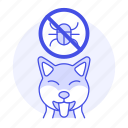 animal, care, deparasite, dog, no, parasite, pet, puppy, tick icon