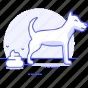 animal, defecating, dog, excrement, excretion, feces, pet, poop, pooping, shit, stool
