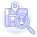 animal, app, devices, dog, finding, location, magnifier, map, pet, pin, puppy, smart, tracker, tracking