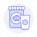 animal, bag, care, cup, fish, food, pet icon