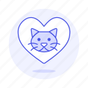 animal, cat, emoji, heart, kitty, love, pet, pink, pride icon