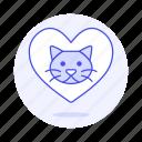 animal, cat, emoji, heart, kitty, love, pet, pink, pride