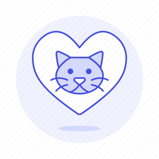 animal, cat, emoji, heart, kitty, love, pet, pink, pride icon