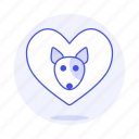 animal, dog, emoji, heart, love, pet, pink, pride, puppy icon