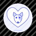 animal, dog, emoji, heart, love, pet, pink, pride, puppy