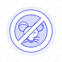 animal, block, icon, mouse, no, pet, prohibited, rodent, sign icon