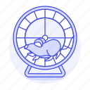 animal, excercising, mouse, pet, rodent, running, wheel icon
